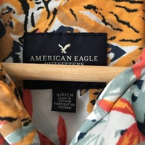 ff42d2288 American Eagle Outfitters Shirts - American Eagle Tiger Tropical Print  Button Down